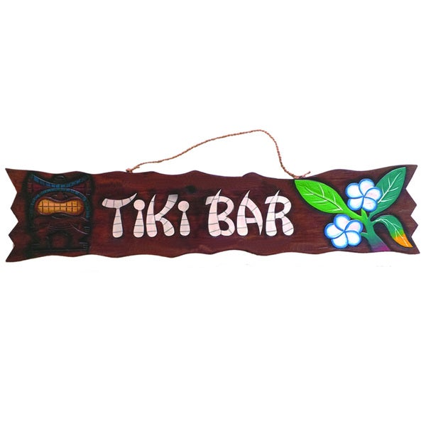 Shop Ram Game Room Tiki Bar Hanging Outdoor Wall Decor