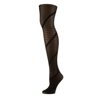 Memoi Women's Spiral Sheer Tights