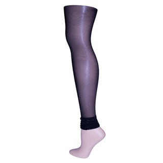 Memoi Women's Layered Ruffles Sheer Footless Tights