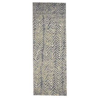 Grand Bazaar Milania Granite Power-loomed Runner Rug (2'10 x 7'10)