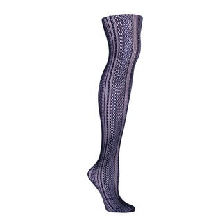 Memoi Women's Optic Spiral Net Tights