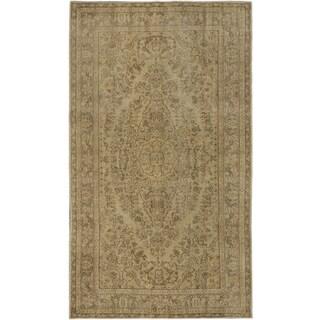 ecarpetgallery Anatolian Sunwash Beige Wool Rug - 5'6 x 9'6