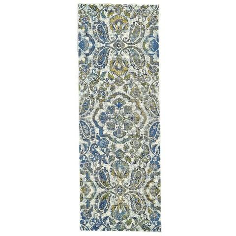 "Grand Bazaar Omari Azure Runner (2'10"" x 7'10"") - 2'10"" x 7'10"""