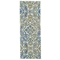 "Grand Bazaar Omari Azure Runner/ Tread (2'10"" x 7'10"") - 3' x 8'"