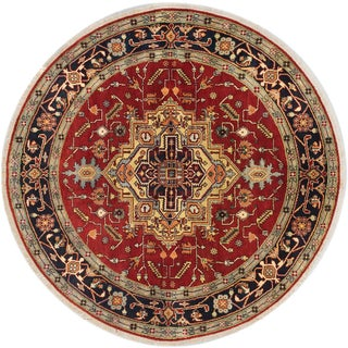 ecarpetgallery Serapi Heritage Brown Wool Rug (8 x 8)