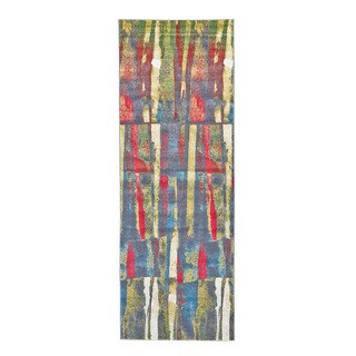 Grand Bazaar Sagio Aura Power-loomed Runner Rug (2'10 x 7'10)