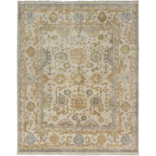 ecarpetgallery Royal Ushak Beige Wool Rug (7'10 x 9'11)