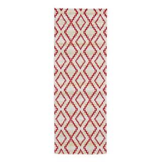 Grand Bazaar Sagio Apricot Power-loomed Runner Rug (2'10 x 7'10)