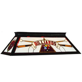 RAM Game Room Red 4-light Stained Glass Billiard Fixture
