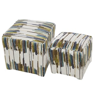 Upholstered Paint Cube Stools (Set of 2)