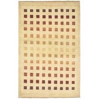 ecarpetgallery Finest Ziegler Chobi Yellow Wool Rug (4'5 x 7)