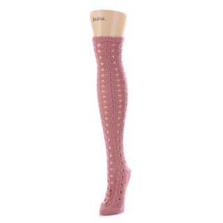 Memoi Women's Linear Loop Chunky Knit Over The Knee