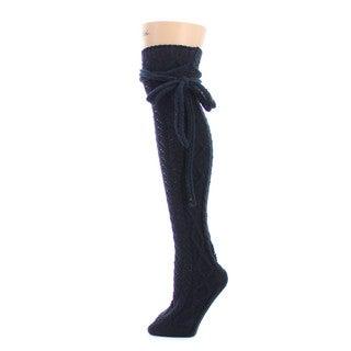 Memoi Women's Sailors Knot Chunky Knit Over The Knee