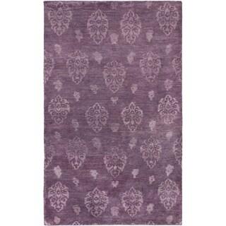 ecarpetgallery Royal Maroc Purple Wool Rug (4'10 x 7'10)