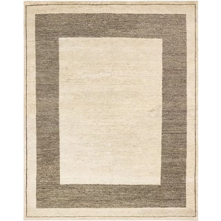 ecarpetgallery Royal Maroc Beige and Brown Wool Rug (7'10 x 9'10)