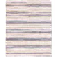 ecarpetgallery Luribaft Gabbeh Riz Blue and Pink Wool Rug - 8 x 9'10