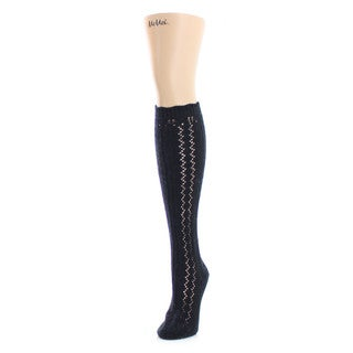 Memoi Women's Tri Zag Chunky Knit Knee High