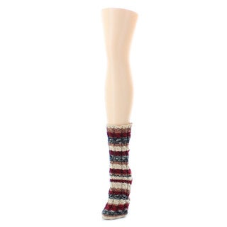 Memoi Women's Static Tone Chunky Knit Boot Sock