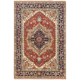 ecarpetgallery Serapi Heritage Brown Wool Rug (6 x 9'1)