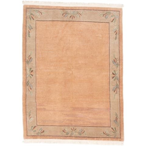 Hand-knotted Opulence Ivory Wool Rug