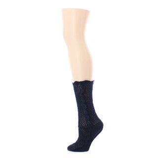 Memoi Women's Scallop Side Chunky Knit Boot Sock
