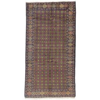 ecarpetgallery Royal Baluch Blue Wool Rug (4'1 x 7'9)