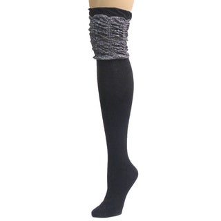 Memoi Women's Glitzy Cap Over The Knee