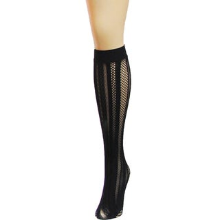 Memoi Women's Panel Symmetry Net Knee High