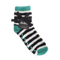 Memoi Women's Colorblock Cozy Sock w/Aloe