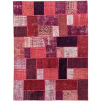 ecarpetgallery Color Transition Patch Red Wool Rug