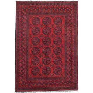 ecarpetgallery Khal Mohammadi Red Wool Rug (6'8 x 9'7)