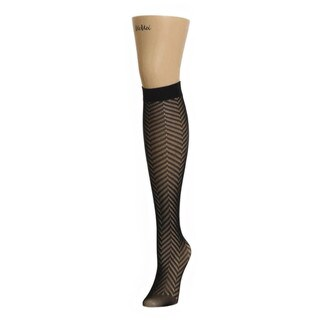 Memoi Women's Chevron Net Knee High
