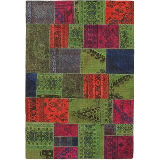 ecarpetgallery Color Transition Brown and Green Wool Rug (6'7 x 8'11)