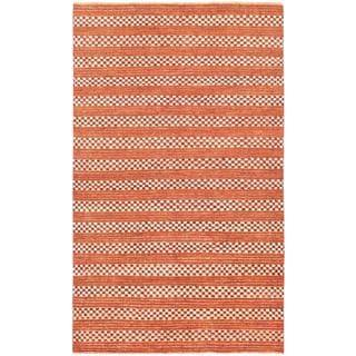 ecarpetgallery Finest Ziegler Chobi Orange Wool Rug (5 x 8'2)