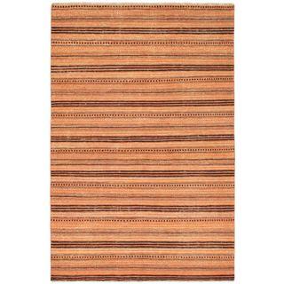 ecarpetgallery Finest Ziegler Chobi Brown Wool Rug (5'5 x 8'2)