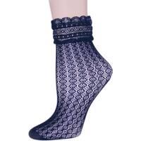 Memoi Women's Diamond Floral Lace Anklet