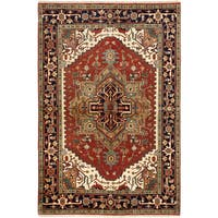 ecarpetgallery Serapi Heritage Brown Wool Rug (6 x 8'11)