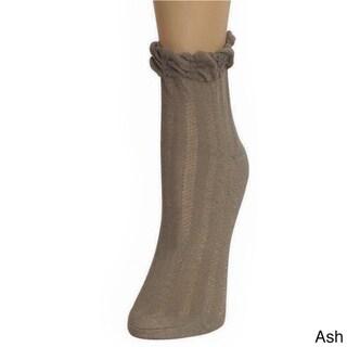 Memoi Women's Thick-N-Sheer Anklet