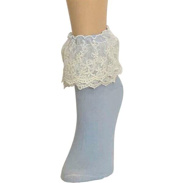Memoi Women's Duo Lace Anklet