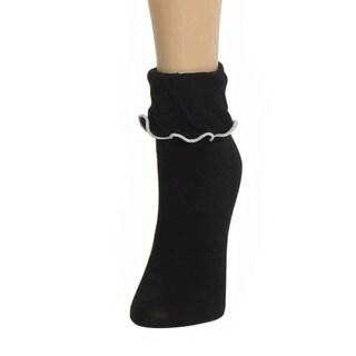 Memoi Women's Ruffle Bliss Anklet