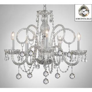 All Crystal Chandelier Lighting With Crystal Balls