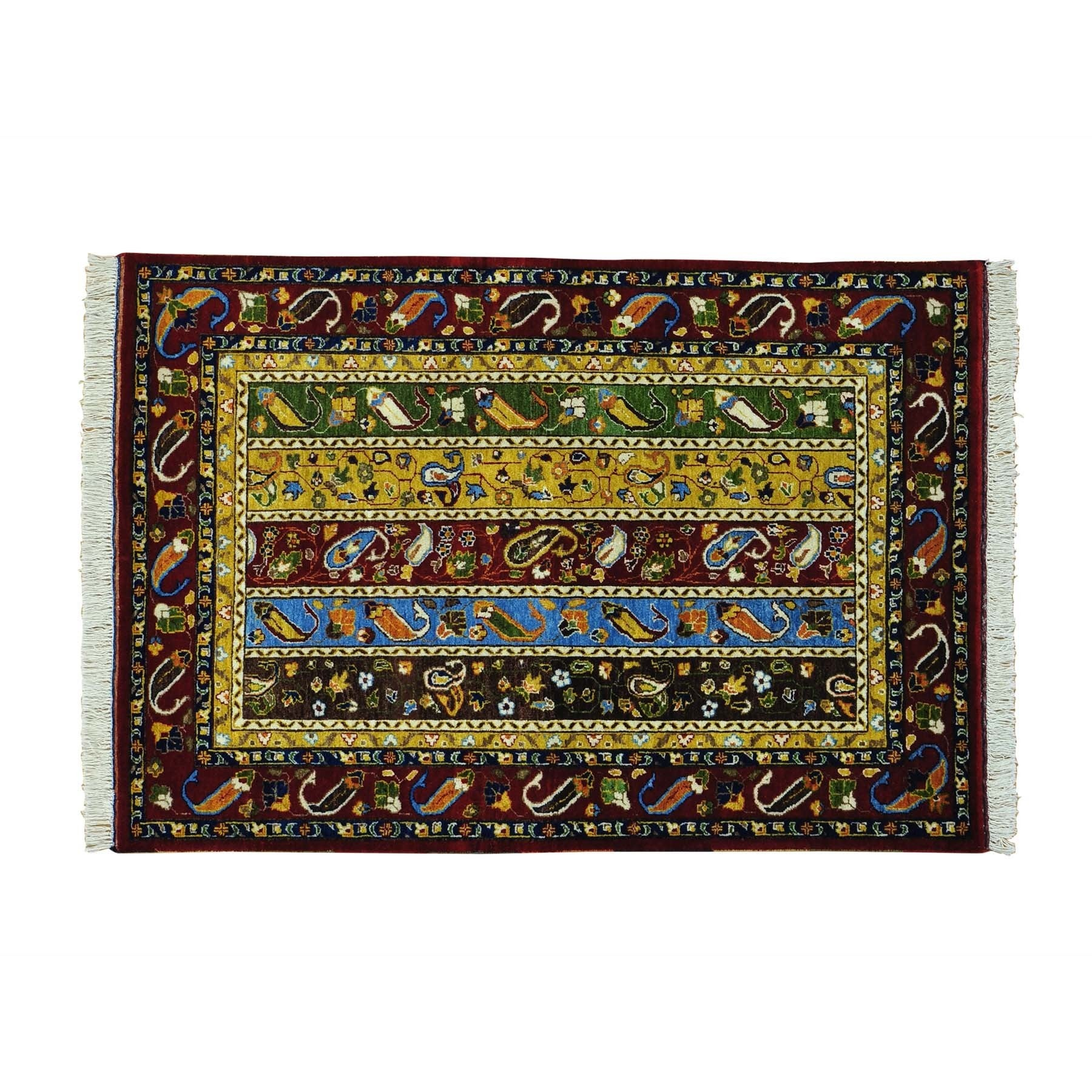 1800getarug Wool Paisley Shawl Design Hand-knotted Orient...