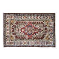Hand-knotted Super Kazak Wool Oriental Rug (3'10 x 6')