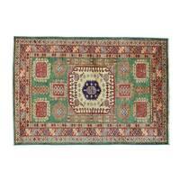 Super Kazak Hand-knotted Wool Oriental Rug (4'2 x 6')