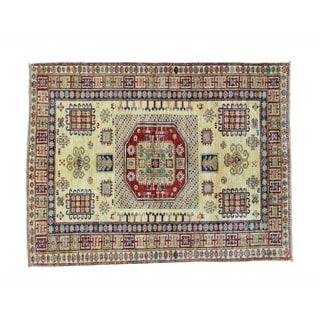 Super Kazak Tribal Design Handmade Wool Oriental Rug (4'3 x 5'5)