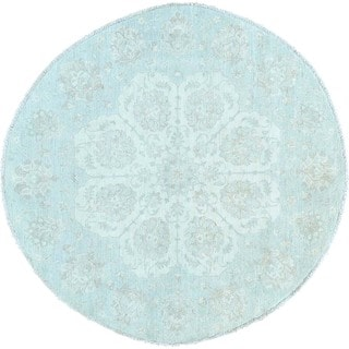 White Wash Oushak Round Hand-knotted Oriental Rug (6'3 x 6'3)