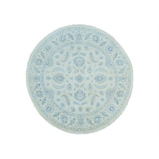 Oushak Zeigler Mahal Round Hand-knotted Wool Rug (6'1 x 6'2)