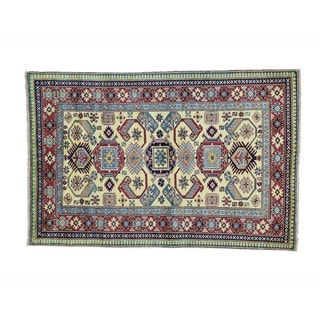 Wool Hand-knotted Shirvan Kazak Oriental Rug (3'10 x 5'8)