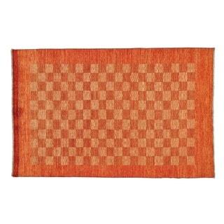 Modern Gabbeh Wool Hand-knotted Oriental Rug (5'2 x 8')