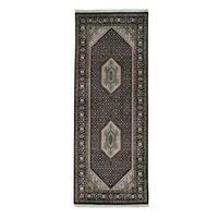 Bidjar Mahi Wool and Silk Hand-knotted Oriental Runner Rug (2'7 x 6'9)